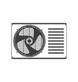 air conditioner unit vector image