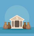 bank and money savings vector image