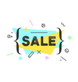 banner sale in geometric style vector image