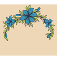 Beautiful branch with flowers vector image vector image