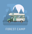 Camper traveler Truck on National Mountain Park vector image vector image