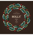 Card with holly vector image vector image
