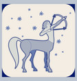 ceramic tile centaur armed with a bow shooting an vector image
