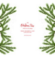 christmas feer tree background vector image vector image