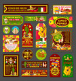 cinco de mayo mexican fiesta party tag and card vector image vector image
