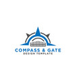 compass and gate logo design template vector image vector image
