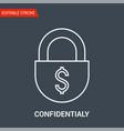 confidentialy icon vector image