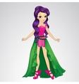 Cute Fairy With Purple Hair vector image