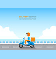 delivery service concept vector image vector image