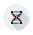 dna icon on round background vector image vector image