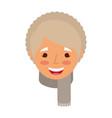 elderly woman lady smiling cartoon people profile vector image