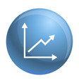 finance graph icon simple style vector image