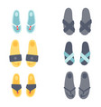 flip flops design graphic vector image