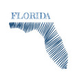 florida state map vector image