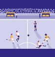 football soccer stadium scene vector image