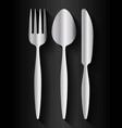 fork spoon knife cutlery symbol vector image vector image