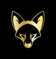 fox head symbol vector image