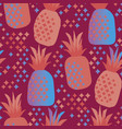 fun vivid pineapple seamless pattern vector image
