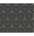 Geometric line art seamless pattern vector image