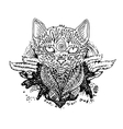 Graphic black cat vector image vector image