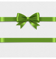 green bow isolated transparent background vector image vector image