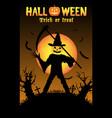 halloween pumpkin killer in a graveyard vector image vector image