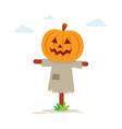 halloween scary scarecrow vector image vector image