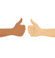 Hands showing okay sign vector image