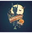 Happy Halloween Night party and disco vector image vector image