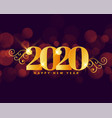 happy new year 2020 golden royal greeting design vector image