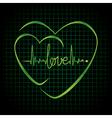 Hearts Black vector image vector image