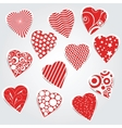 hearts set - stickers vector image vector image