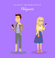 human temperament concept in flat design vector image vector image
