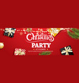 invitation merry christmas party poster banner vector image vector image