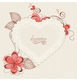 lace floral heart vector image vector image