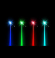 laser beam set vector image vector image