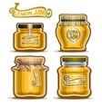 lemon jam in glass jars vector image vector image