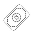 line bill cash money to buy vector image vector image