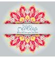 Mandala pattern design template Vintage ethnic vector image vector image