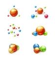 Molecule icon set vector image vector image