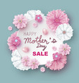 mothers day sale design of flowers vector image