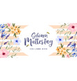 mothers day watercolor spring flower german card vector image vector image