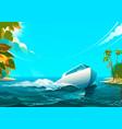 motorboat in the ocean of vector image