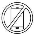 no phones icon vector image