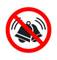 noise not allowed keep quiet red forbidden sign vector image vector image
