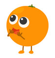 orange icon cartoon style vector image