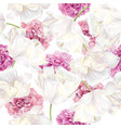 peony tulip pattern vector image vector image