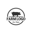 pork logo designs vector image