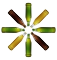 Realistic bottles of beer vector image vector image