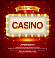 retro light sign casino signage vintage style vector image